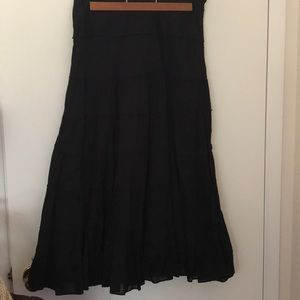 Uniform Petite JohnPaulRichard Black Maxi Skirt